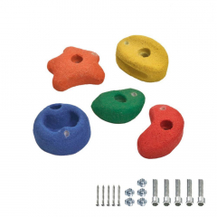 5 Climbing holds 90 mm multicolour