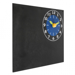 Black board with clock