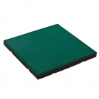 Rubber safety tile 50x50x4.5 cm incl. fixing pins